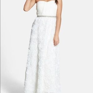 As U Wish- 'Quinn' Embellished Rosette Gown